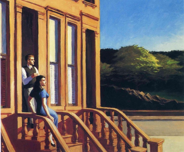 symbolism and the key elements used in city sunlight a painting by edward hopper Edward hopper : portraits of his city scenes and it's like reading a novel of metaphor leaving readers a huge space to imagine the context of the painting.